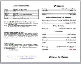Free Church Program Templates by Church Program Template Peerpex