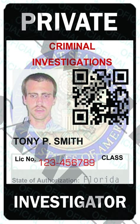 detective identification card template for custom investigator id card template pi5321a