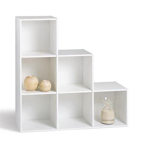 etagere 6 cases ikea compo meuble en escalier blanc l 93 cm achat vente