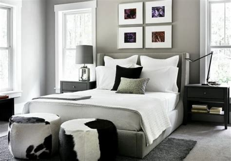 black white and gray bedroom ideas dormitorios con paredes grises dormitorios con estilo