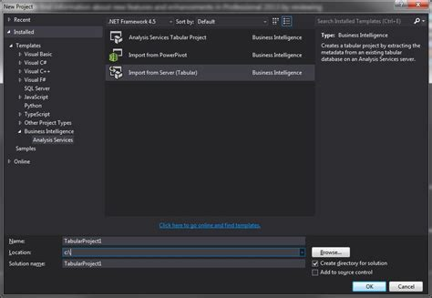 business intelligence templates for visual studio 2013 missing reporting server templates in visual studio 2013