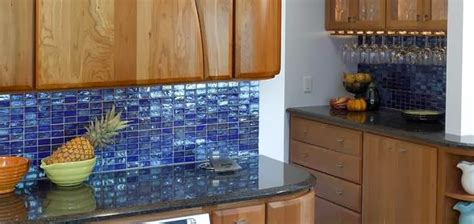 blue tile kitchen backsplash design ideas of glass tile for your kitchen backsplash