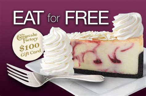 Cheesecake Factory Email Gift Card - get a 100 free the cheesecake factory gift card