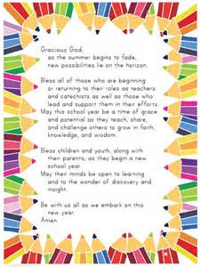 use with the blessing of the backpacks teacher s prayer