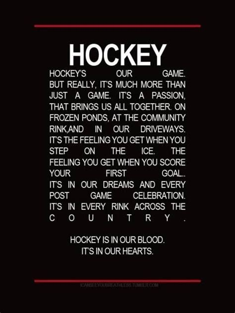 free printable hockey quotes hockey is in us inspirational quotes pinterest night