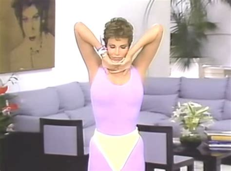 raquel welch exercise raquel welch wears plunging 80s leotard in hilarious