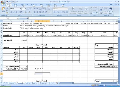 microsoft excel payroll template best photos of payroll hours template employee