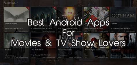 best android apps to track movies tv series