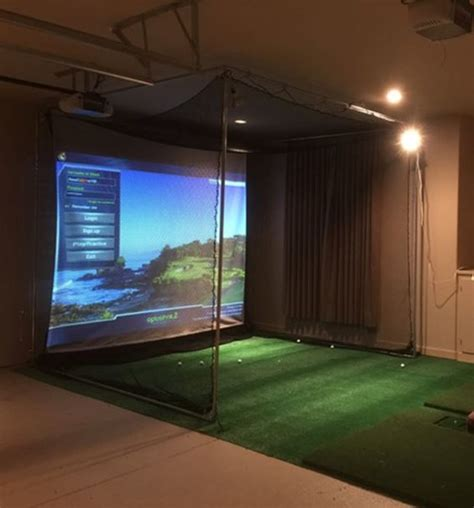full swing golf simulator for sale optishot complete golf simulator system laptop projector