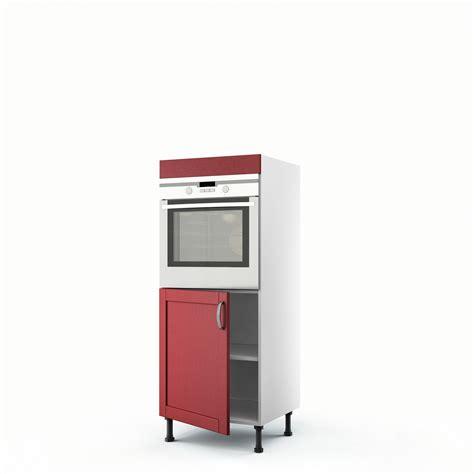agréable Meuble Cuisine Bricoman #1: meuble-de-cuisine-demi-colonne-rouge-four-1-porte-rubis-h-140-x-l-60-x-p-56-cm.jpg