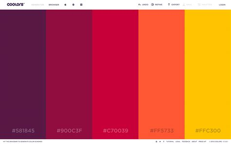 color palete best color palette generators html color codes