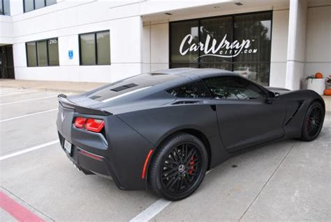 corvette stingray matte black matte black gunmetal stingray color change wrap car
