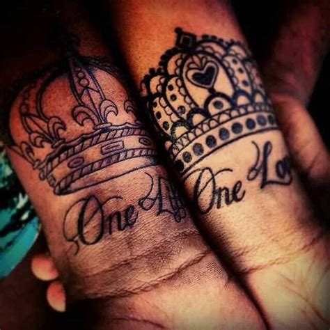 king and queen tattoo umeå nice one love one life text king queen crown tattoo image