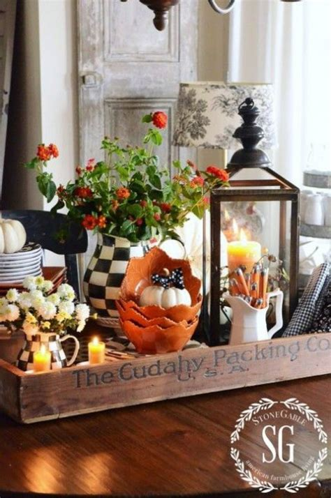 ideas for kitchen table centerpieces cozy and comfy fall kitchen decor ideas comfydwelling com