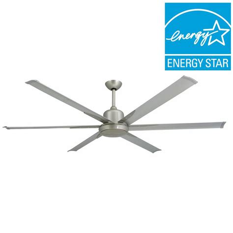 brushed nickel outdoor ceiling fan with light troposair titan 72 in indoor outdoor brushed nickel