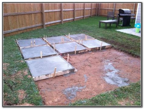 pour concrete patio in sections patios post id hash