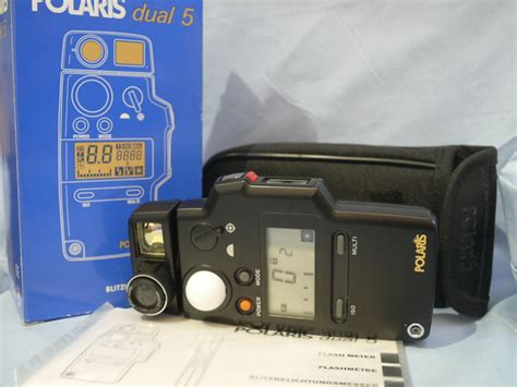 Polaris Light Meter Made In Japan polaris dual 5 spot flash light meter cased boxed new 99 99
