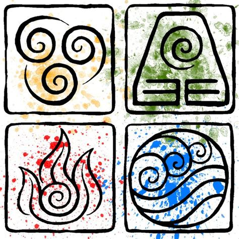 earth symbol tattoo earth element symbols atla element symbols by