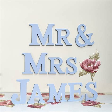 Letter Mister handmade personalised mr mrs letters by altered chic
