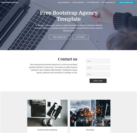 themes bootstrap agency best free html5 video background bootstrap templates of 2018