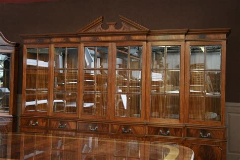 china cabinet glass doors large mahogany china cabinet six door breakfront ebay