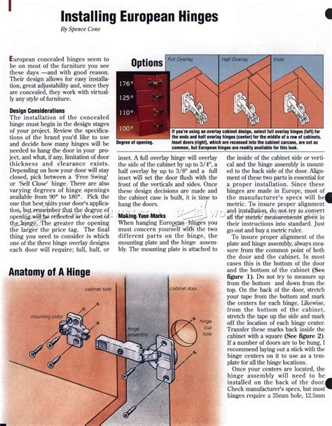how to install a european installing european hinges woodarchivist