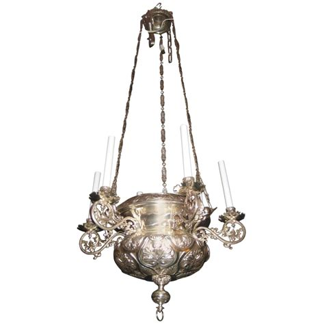 Unique Chandelier Lighting Unique Antique Moorish Style Silvered Bronze Multi Light Chandelier For Sale At 1stdibs