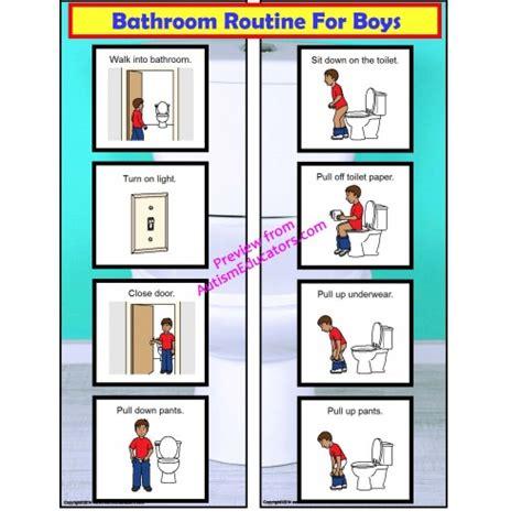 bathroom routine printables free bathroom visual schedule for boys autism