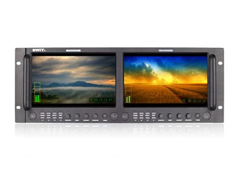 9 Inch Rack by M 1092h Dual 9 Inch Hd Sdi Hdmi Rack Lcd Monitor