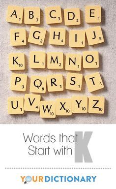 Two Letter Scrabble Words Beginning With K
