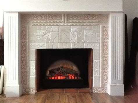 broken tile mosaic fireplace surround m ᗰosᗩiᑕ