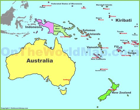 map of countries in australia australia continent map countries www pixshark