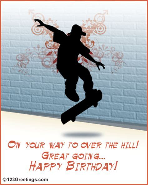 Almost Over The Hill! Free Specials eCards, Greeting Cards