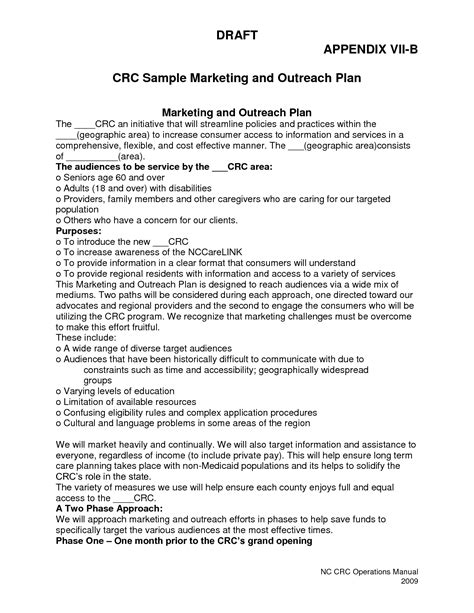 hospital marketing plan template best photos of sle marketing plan small business