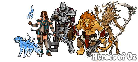 printable heroes heroes of oz paper miniatures by printableheroes on deviantart