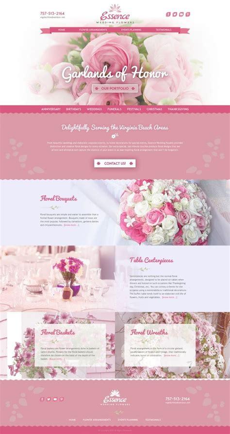 Wedding Flower Websites by 15 Best Flowers Shop Images On Design Websites