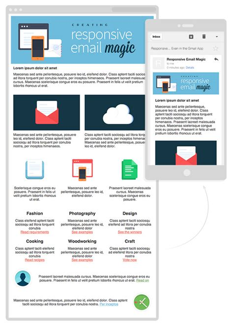 how to design an email template creating a future proof responsive email without media queries