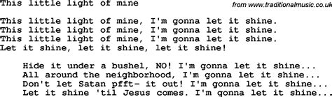 this light of mine lyrics gospel lyric let it shine lyrics let it or let it shine lyrics
