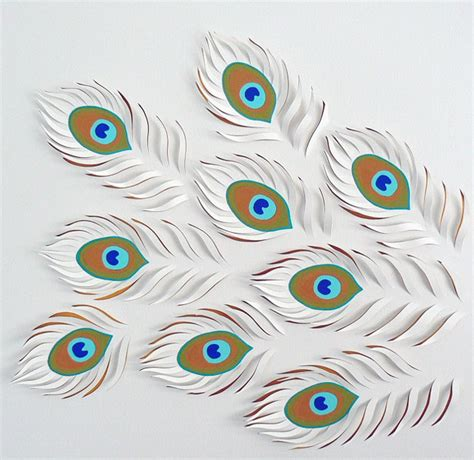 How To Make Peacock Feather With Paper - paper by rodden yellowtrace