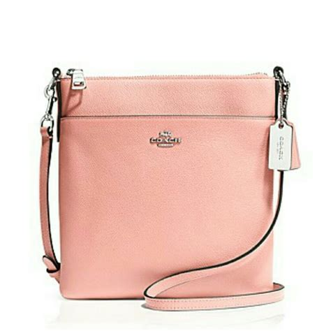 light pink crossbody purse 10 off coach handbags coach crossbody bag in light pink