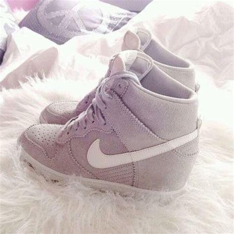 Sneaker Wedges White Grey shoes nike high heels pretty want them wedge sneakers