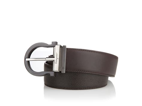 ferragamo reversible and adjustable belt in brown for