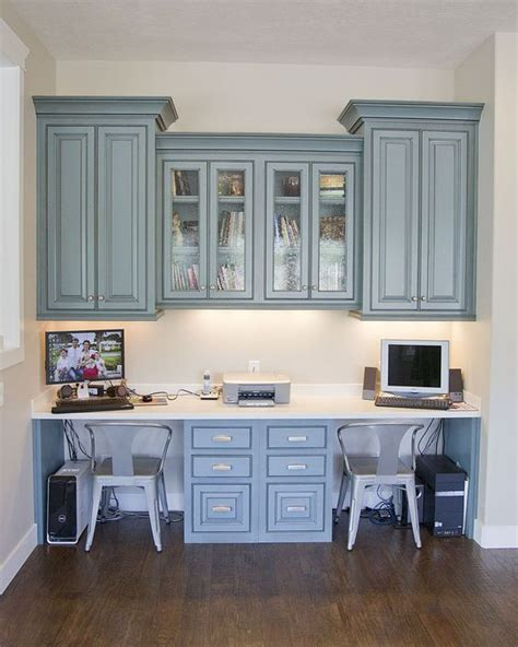 kitchen desk cabinet hanging cabinets built in desk for the study love the