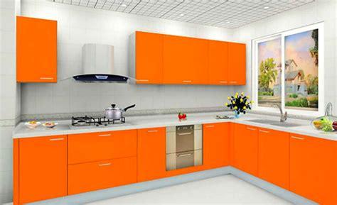 desain dapur warna orange kumpulan desain gambar interior rumah warna cat orange