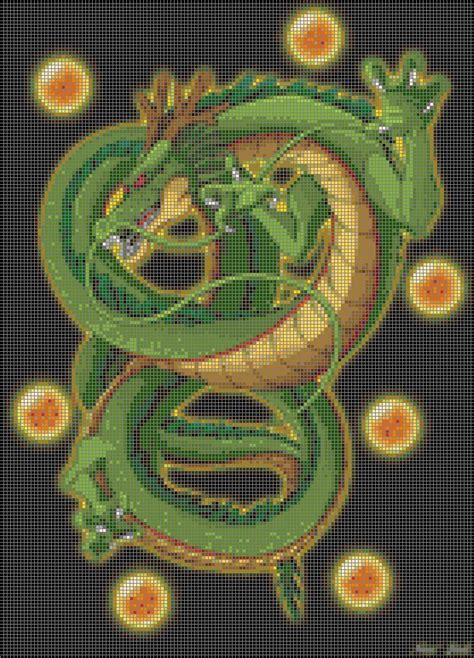 pattern beatbox ball zee dragonball z shenron 40 colors cross stitch pattern