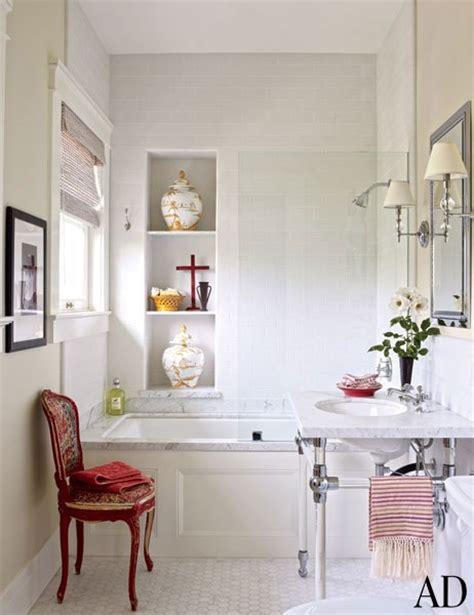 Bathtub Niche by Bathtub Niche Transitional Bathroom Architectural Digest