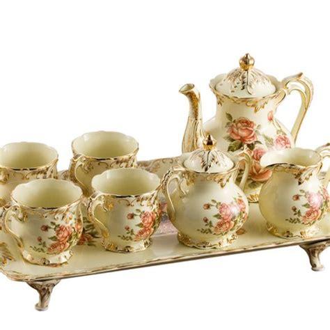 Coffee Set Exspreso Nari ufengke 174 8 creative european luxury painted and gold flower ivory