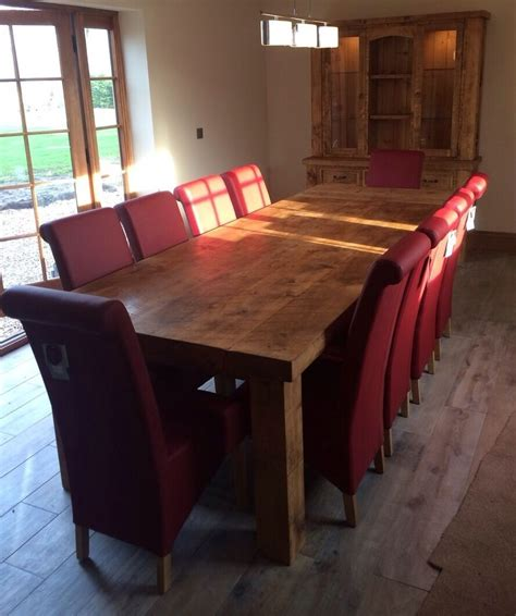 plank dining table new solid wood dining table chunky rustic wooden plank 3