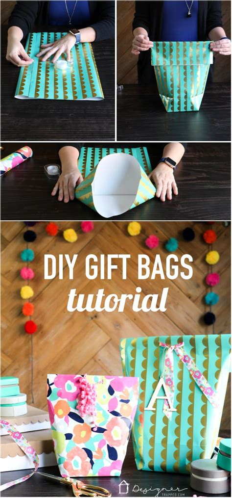 how to make a gift bag from wrapping paper