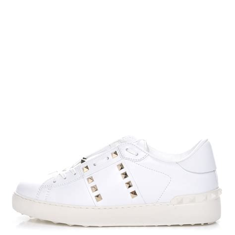 Kaos Valentino Shoes Bw valentino calfskin untitled rockstud sneakers 39 5 white 231875
